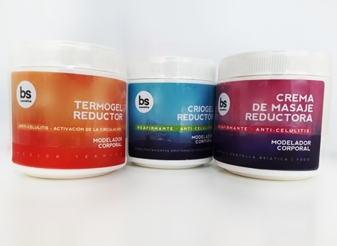Kit completo reductivo BS Criogel, Termogel y Crema 500g