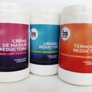 Pack Reductivo BSCosmetica Criogel 1 kg + Termogel 1kg+ Crema 1 Kg